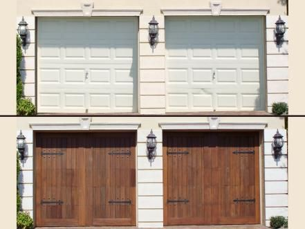 Before And After A Garage Door Makeover