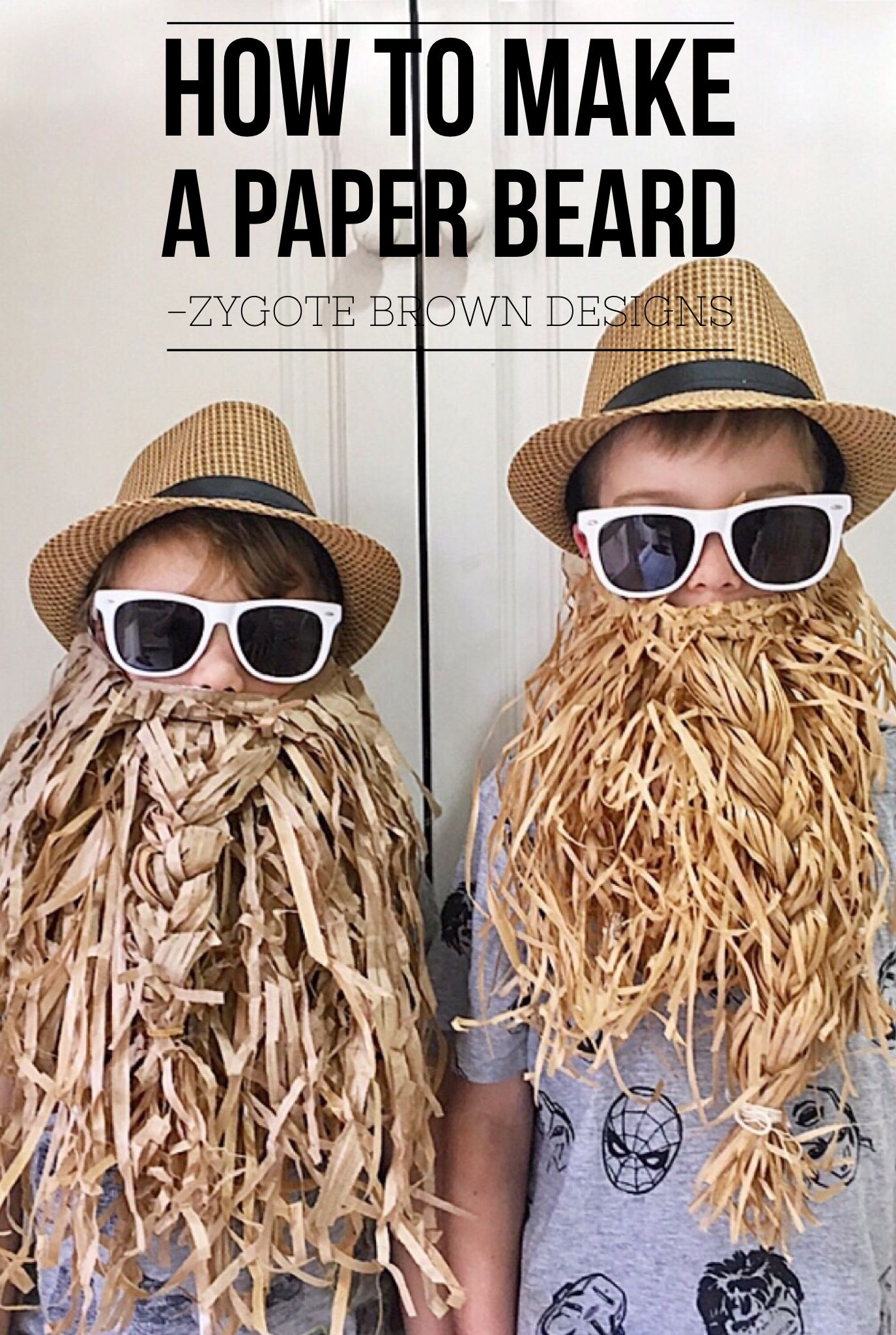 How to make a paper beard