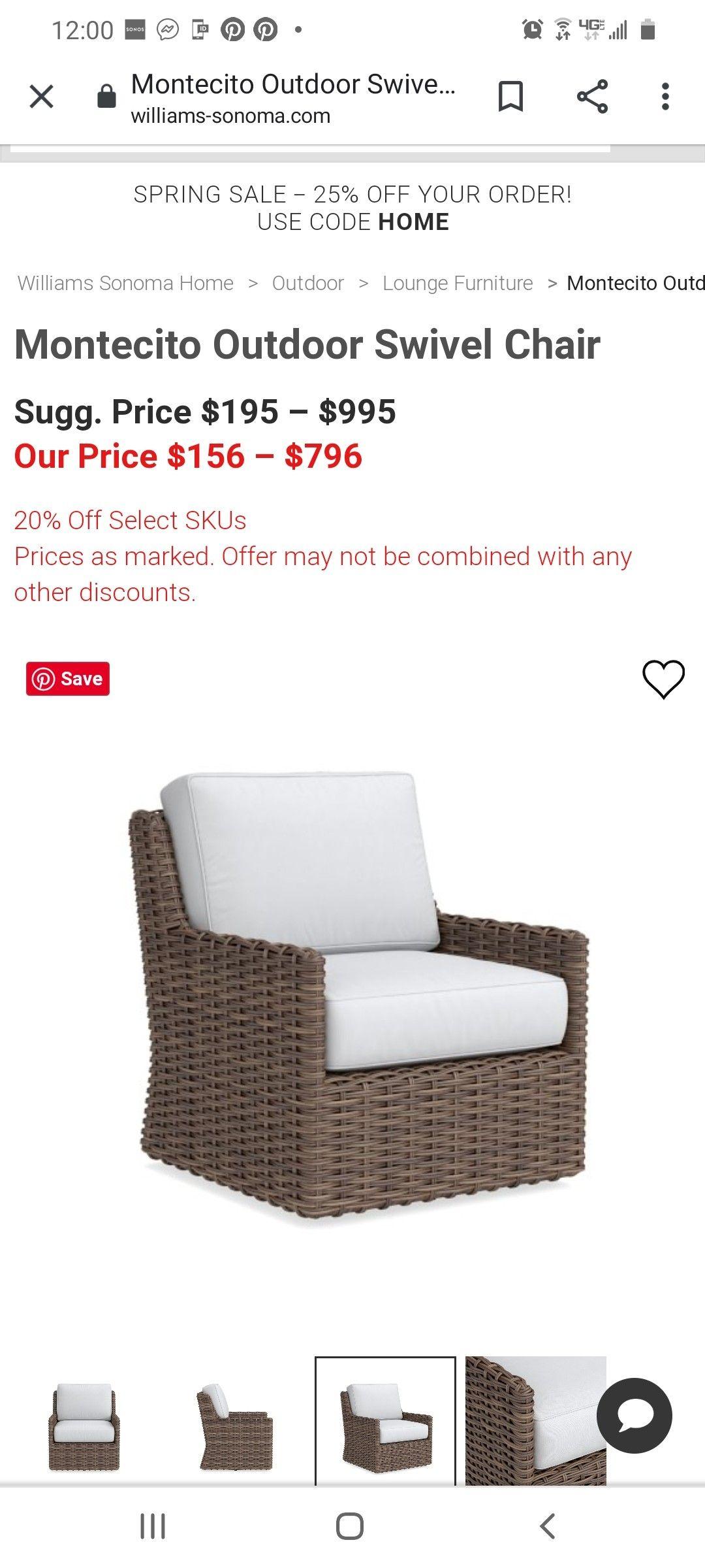 Williams Sonoma Outdoor Furniture Sale