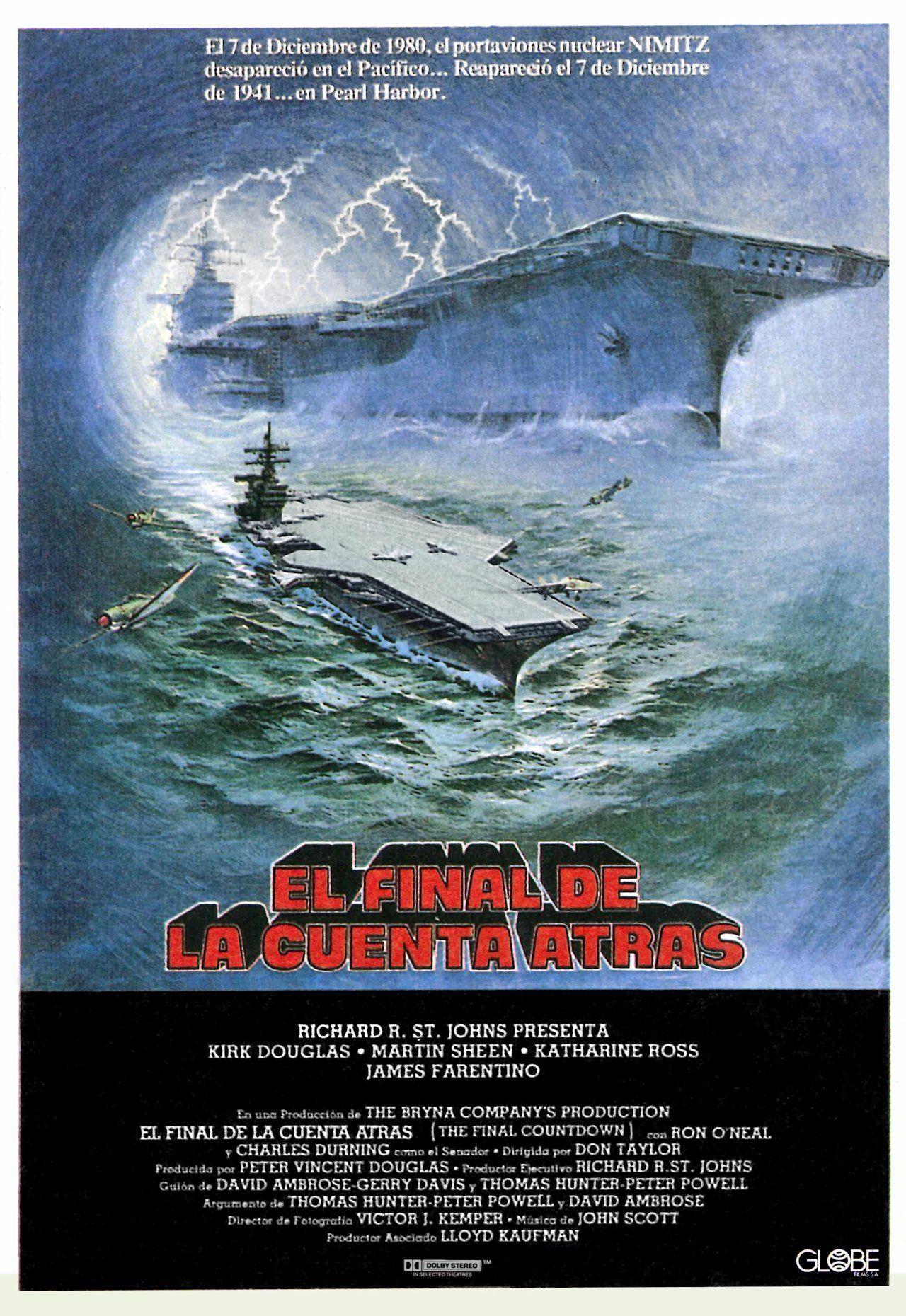 The Final Countdown Spanish Poster Peliculas De Aviones Cine Carteleras De Cine