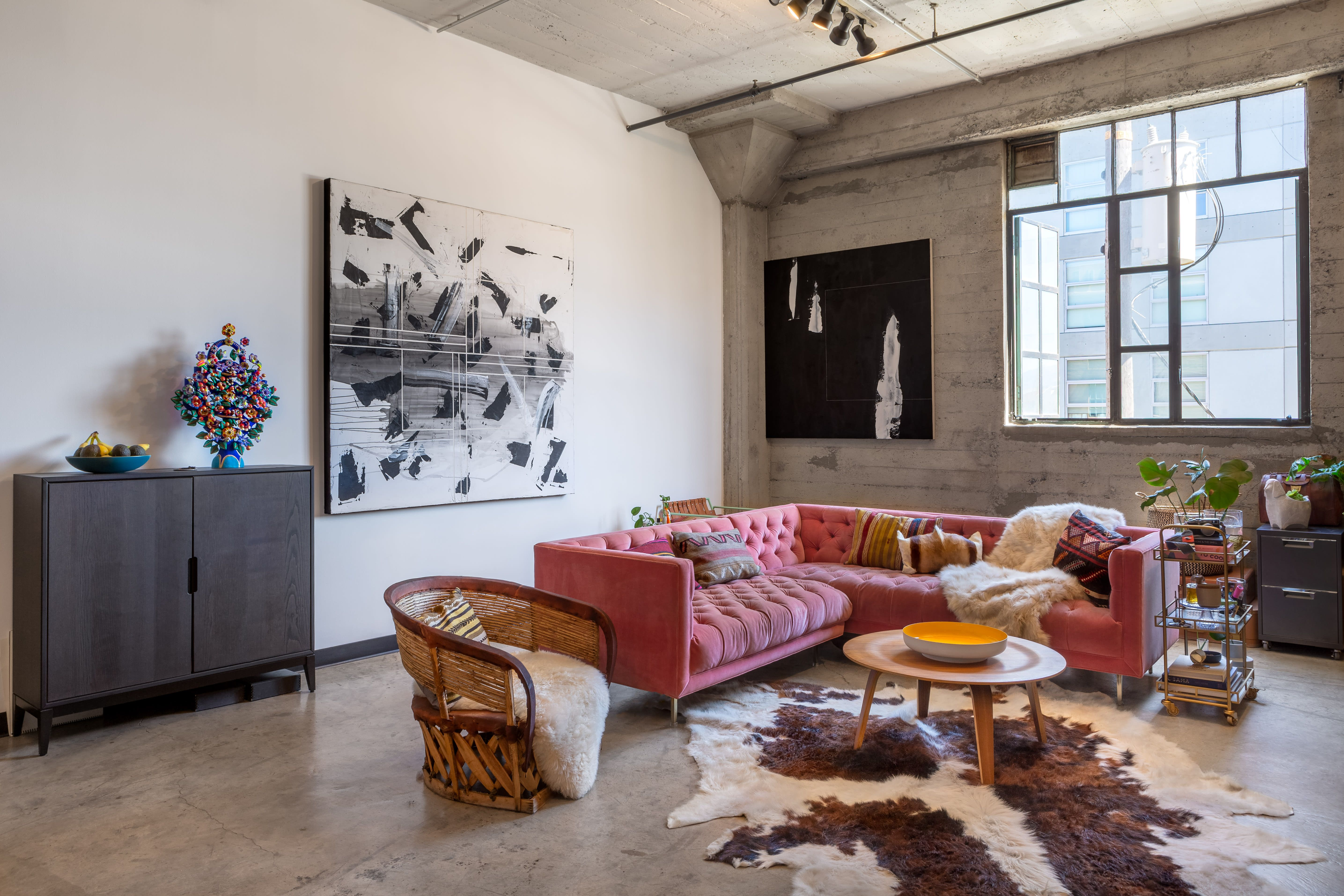 An Incredible Remodel Is Inspired By Mexico Morocco And Maximalism Live Work Lofts Remodel Living Room Furniture