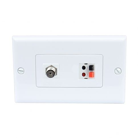 Home Improvement 1 Port Coax Cable Tv F Type 1 Port Speaker Wall Plates Plates On Wall Home Improvement Cable Tv