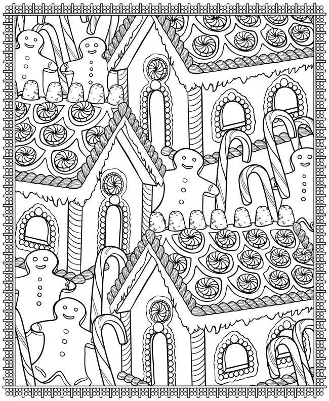 Christmasgingerbreadhouse Coloring Pages Christmas