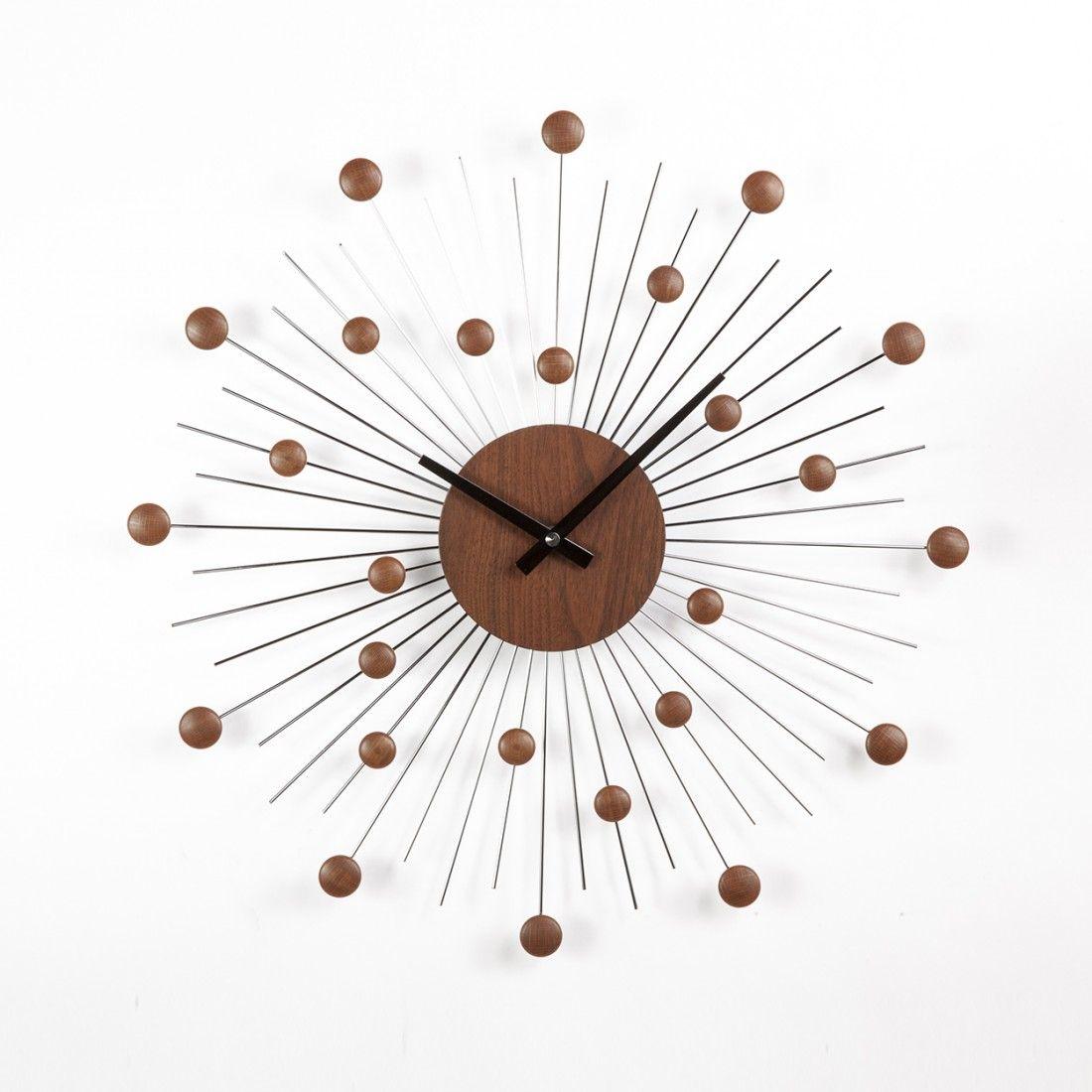 Mid century million dollar clock walnut anceandson