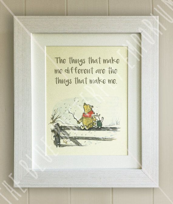 Framed Winnie The Pooh Quote Print New Babybirth Nursery Picture