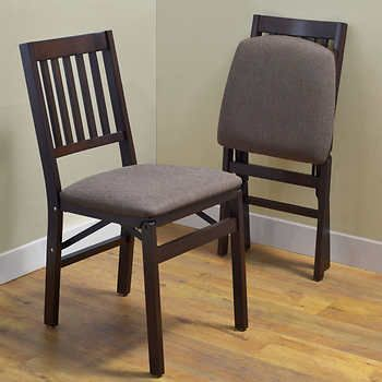 Stakmore Solid Wood Folding Chair Espresso Finish 2pk In