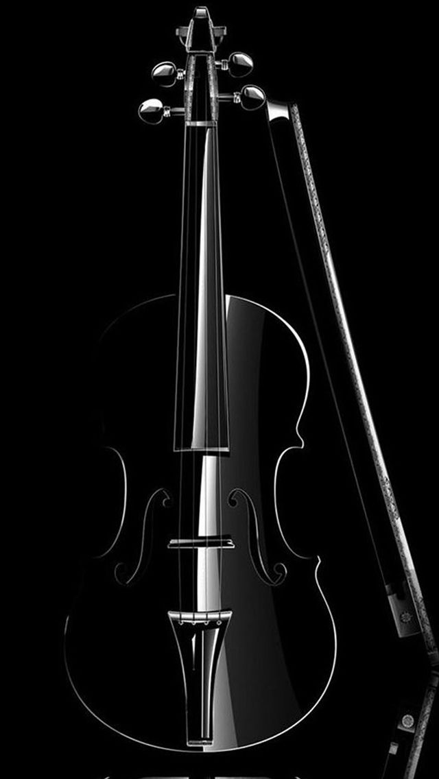 Elegant Cello Macro In Dark IPhone 5s Wallpaper