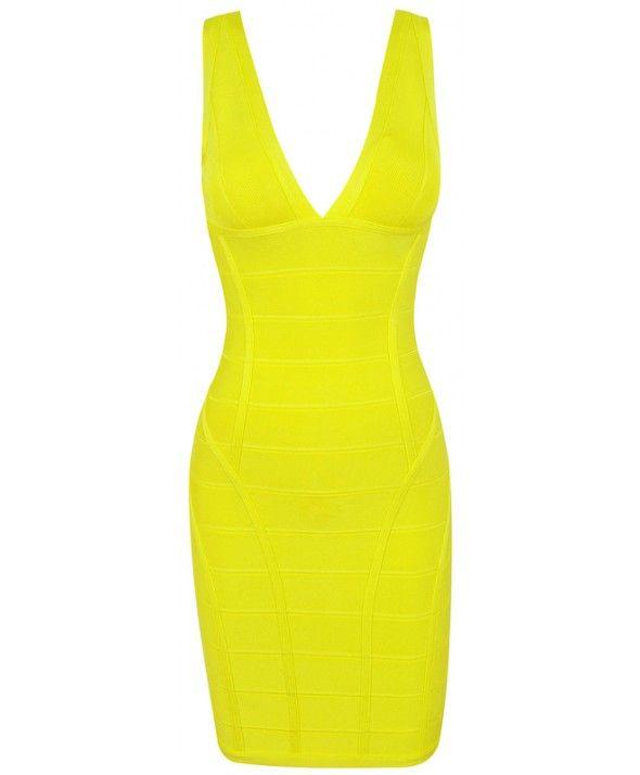 bodycon bandage dress, SLEEVELESS V-NECK BANDAGE DRESS HD520A - DRESSES bandage dresses for cheap
