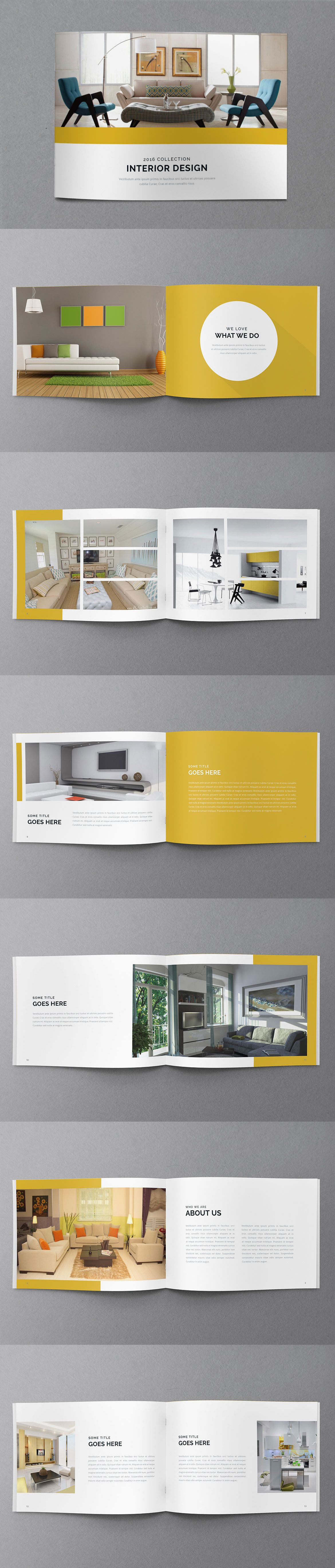 Minimal Portfolio Brochure Template InDesign INDD Pages A - Brochure design templates indesign