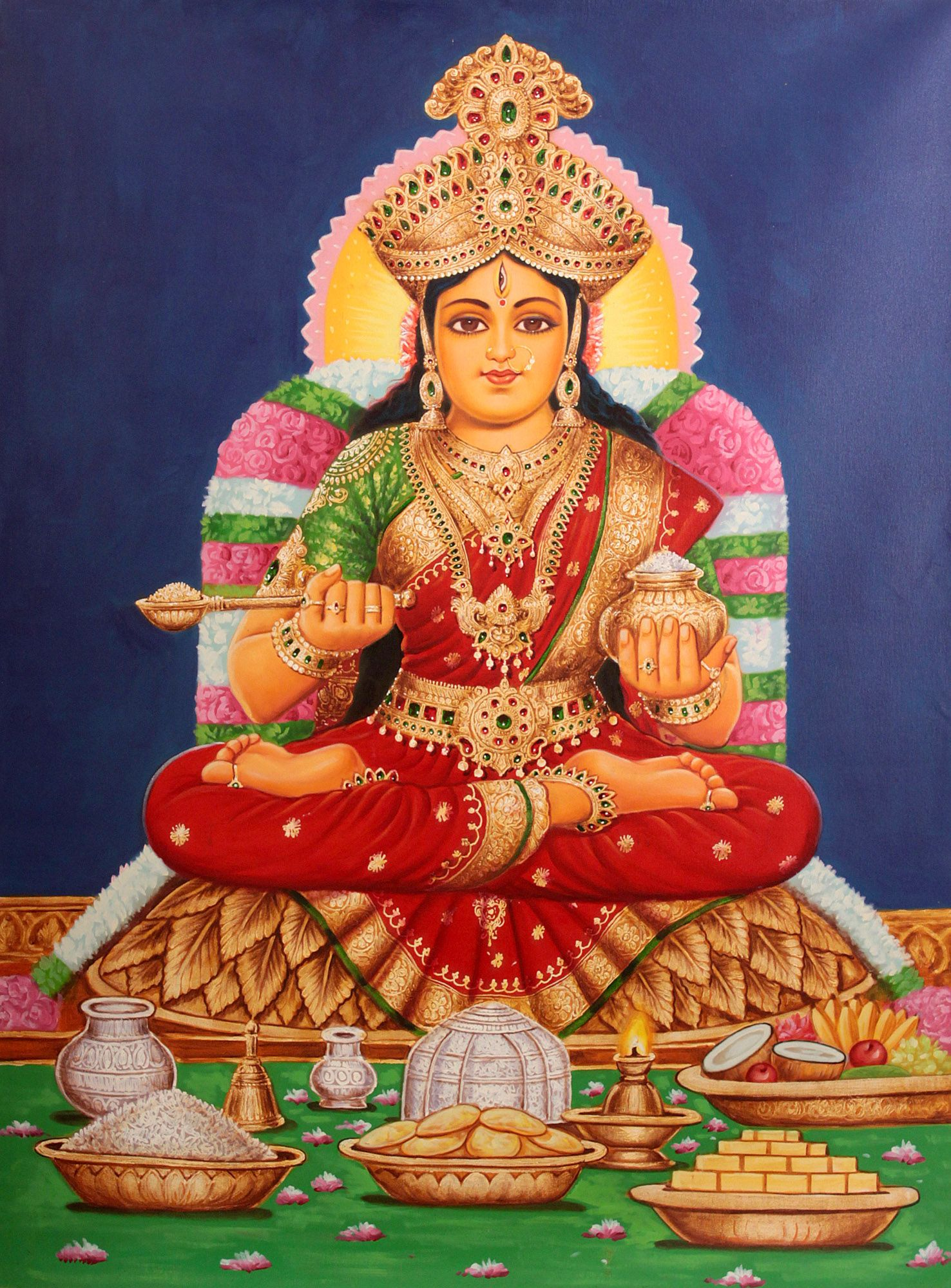 Annapurna hindu goddess of nourishment goddess powered for Annapurna indian cuisine