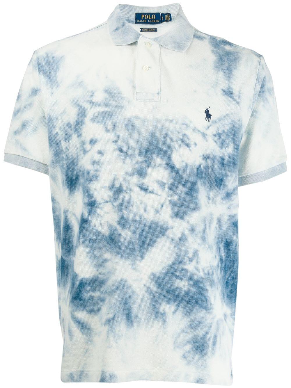 Polo Ralph Lauren Polo Ralph Lauren Tie Dye Polo Top Blue Poloralphlauren Cloth Polo Ralph Lauren Ralph Lauren Slim Fit Tie Dye [ 1334 x 1000 Pixel ]