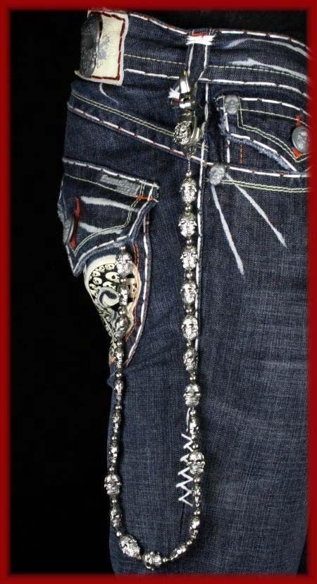 Laguna Beach Jeans Men S Belt Wallet Chain Huntington