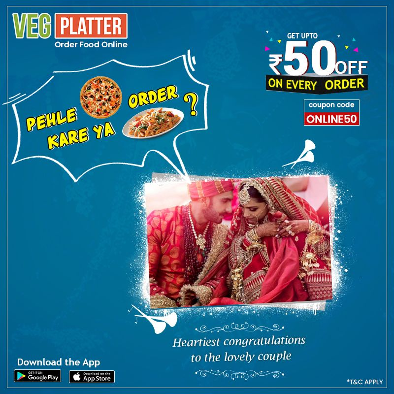 Order Food Online On Veg Platter And Get Off Upto Rs 50 On Every