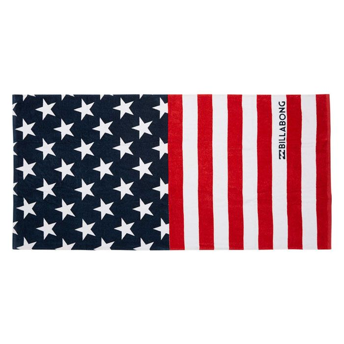 Billabong Stars And Stripes Towel With Images Striped Towels
