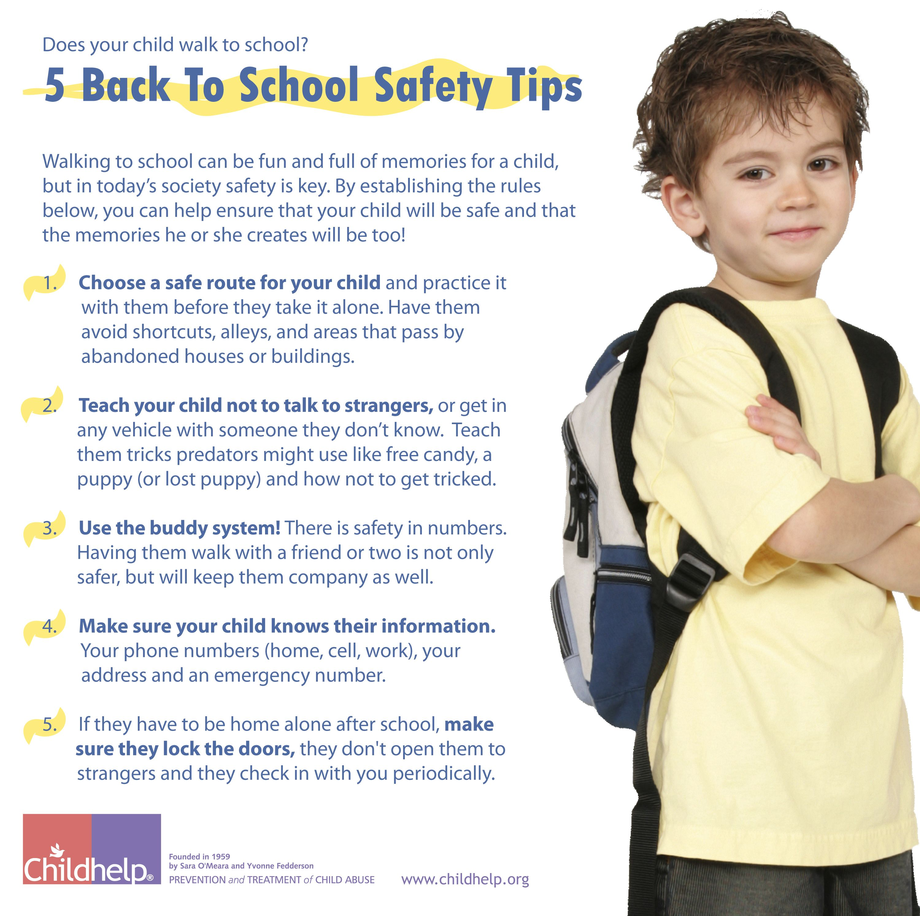 5 Back To School Safety Tips School safety, Safety tips