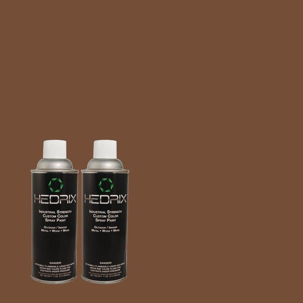 Hedrix 11 oz. Match of S-G-760 Chocolate Coco Semi-Gloss Custom Spray Paint (2-Pack), Color Match Of S-G-760 Chocolate Coco. Available In Multiple Sheens.