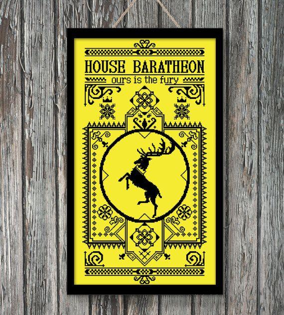BoGo Pattern cross stitch House Baratheon Games of by LolitaMade