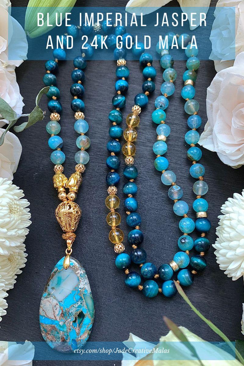 Citrine and  Blue Tigereye Earrings