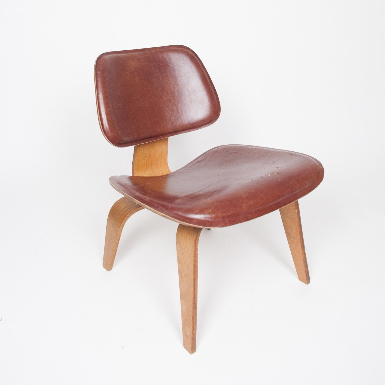 eames chair leather. RARE Eames Evans Herman Miller 1947 LCW Plywood Lounge Chair Leather! 5-2-5 Leather T