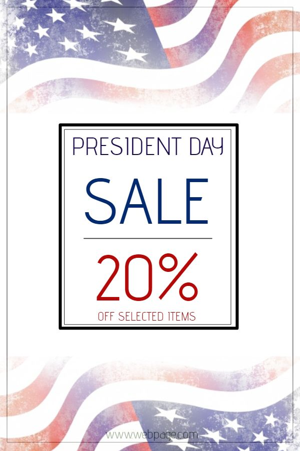 President\u0027s Day Sale Poster Template Click to customize - for sale poster template