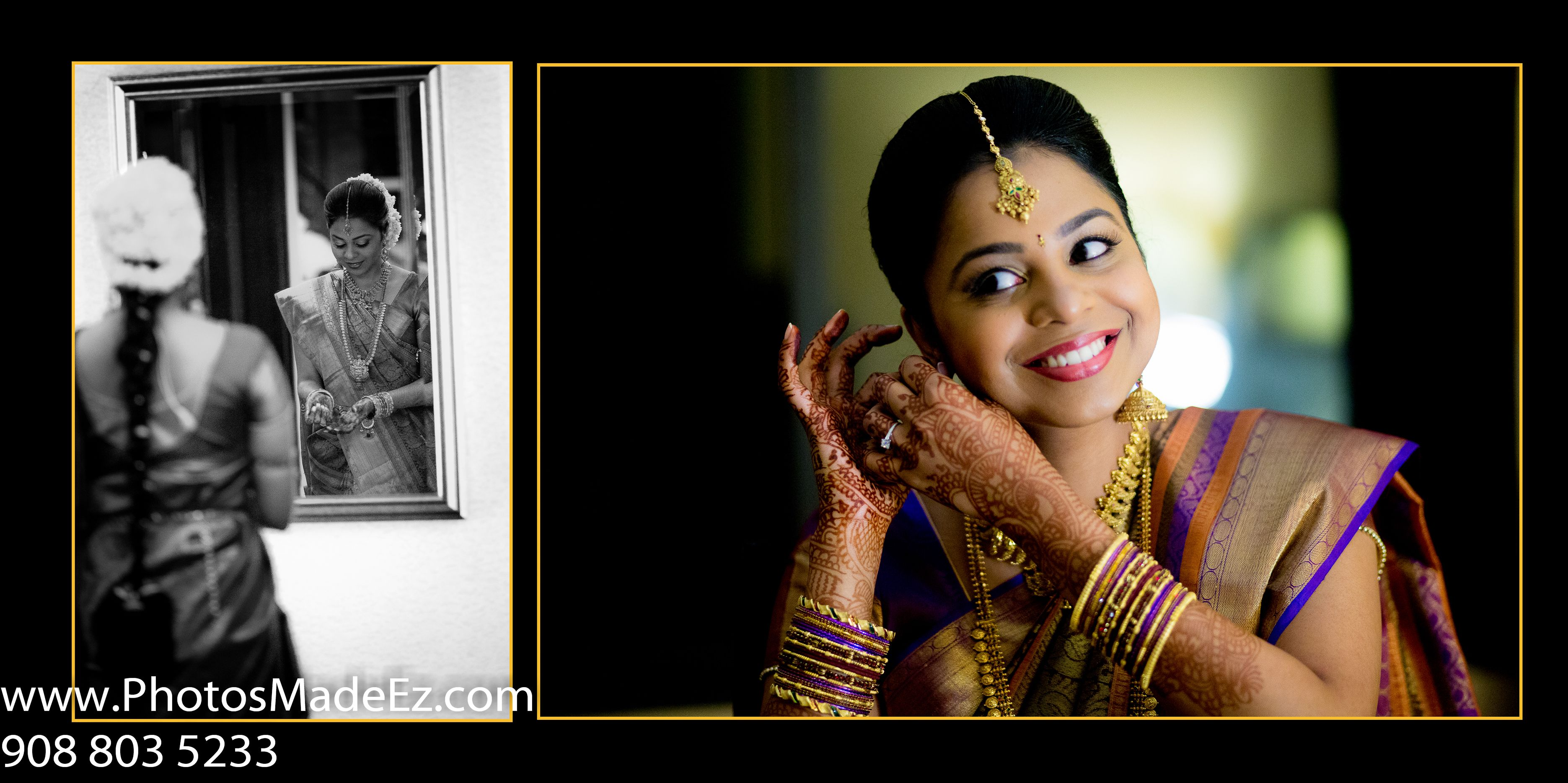 S Indian Bride Getting Ready In South Wedding Photos NJ By PhotosMadeEz With