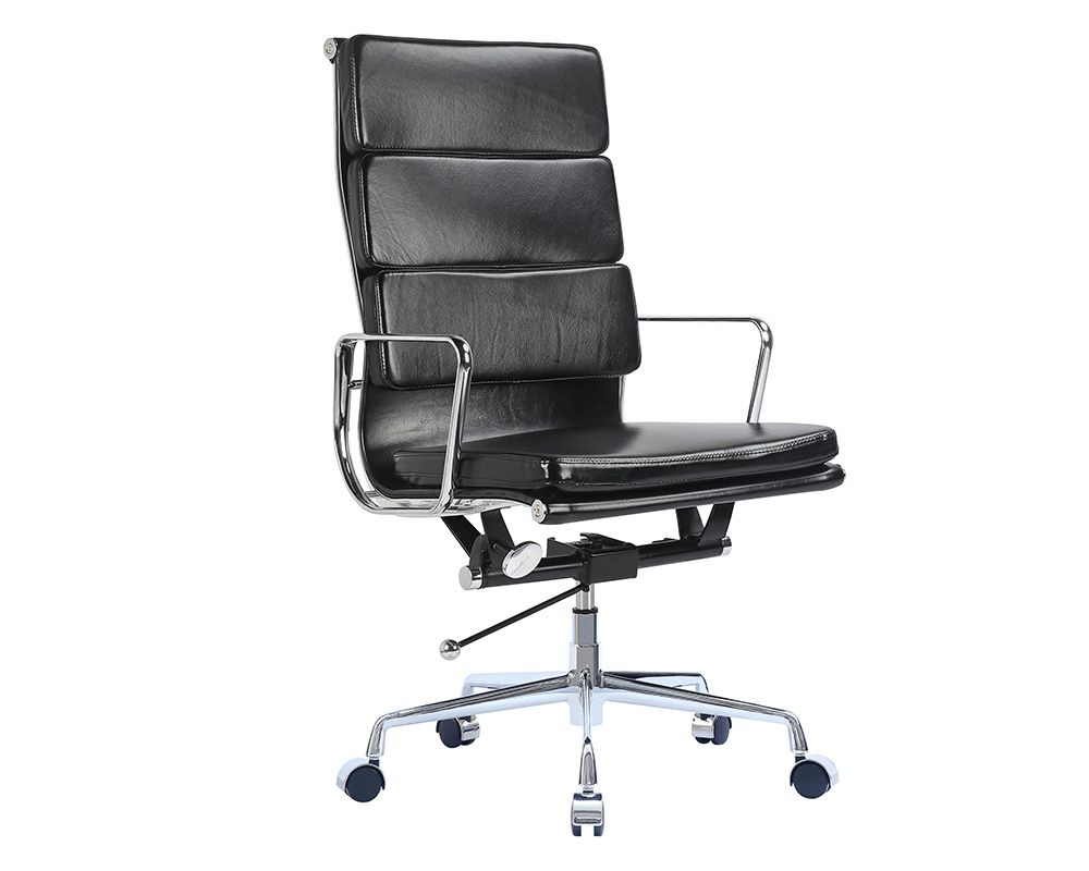 Eames Management Chair Replica Gray Banquet Covers Office Ribbed Mhd Deals Soft Pad Executive