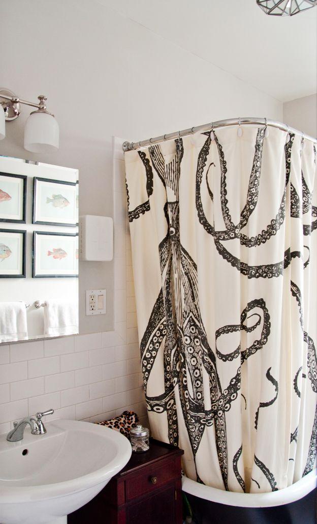 Octopus Shower Curtain Octopus Shower Curtains Curtains Design