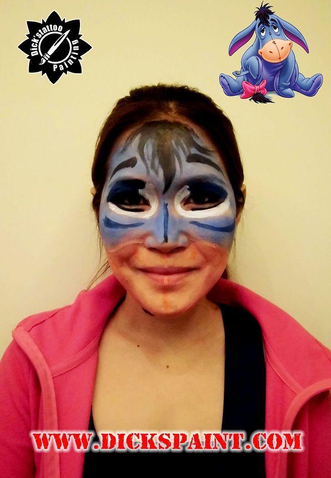 Face Painting Cartoon Character Eeyore Times Magazine International Sudirman Jakarta Facepainting Bodypai Face Painting Halloween Face Painting Scary Makeup