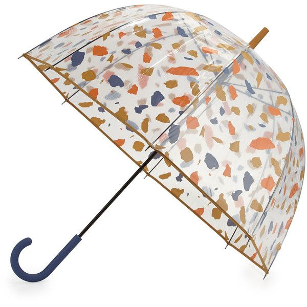 Hunter Boot Original Terrazzo Print Bubble Umbrella found on Polyvore featuring home, outdoors, patio umbrellas, outdoor patio umbrellas, outdoor umbrella, white patio umbrella and flower stem