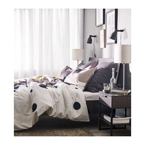 Trysil Bed Frame Dark Brown Luroy Queen Wohnen