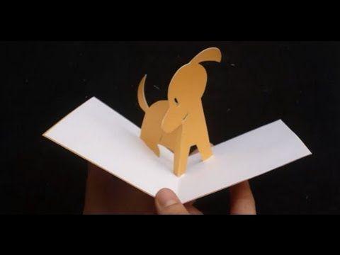 3d Cute Puppy Pop Up Card Tutorial Diy Pop Up Cards Card Tutorial Pop Up Card Templates