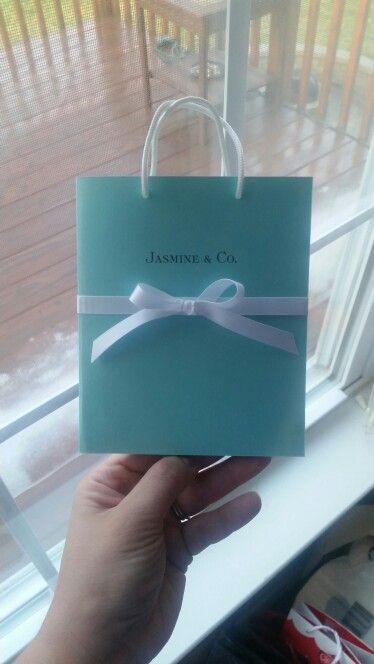 72672da865 DIY - Jasmine's Sweet 16 Tiffany & Co inspired invitation. :-)