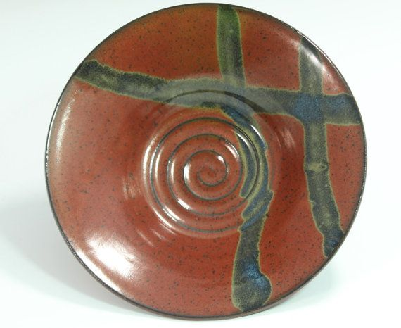 Serving Bowl Side bowl or plate in Brick Iron by bridgespottery