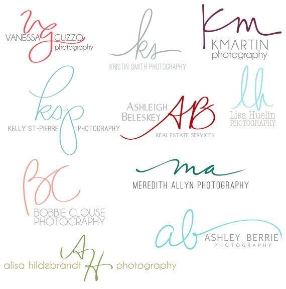 Handwritten Initials Custom Logo photoshop brush by PixelPolish ...