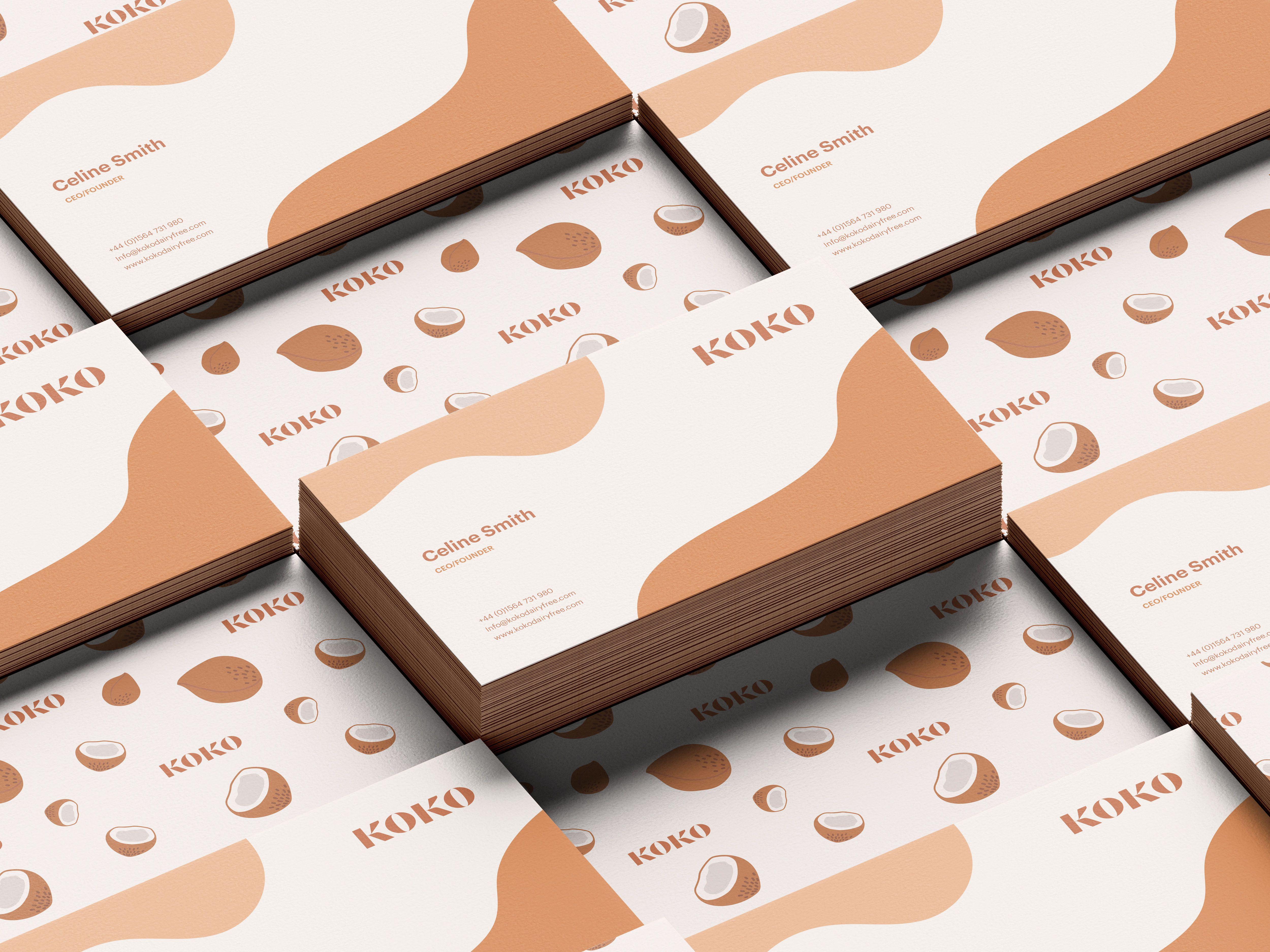 Koko Business Card Business Card Design Inspiration Business Card Design Business Card Inspiration Unique Business Cards