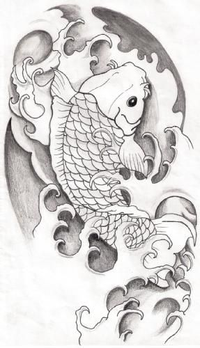 1237255898121 F Jpg 287 500 Pez Koi Dibujo Tatuajes Carpas Koi Tatuajes Japoneses Tradicionales
