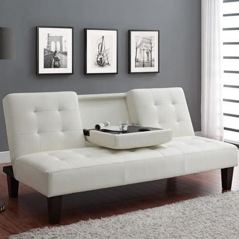 30 Inexpensive Couches Youu0027ll Actually Want In Your Home   Sleeper Sofa  With Fold Down Tray