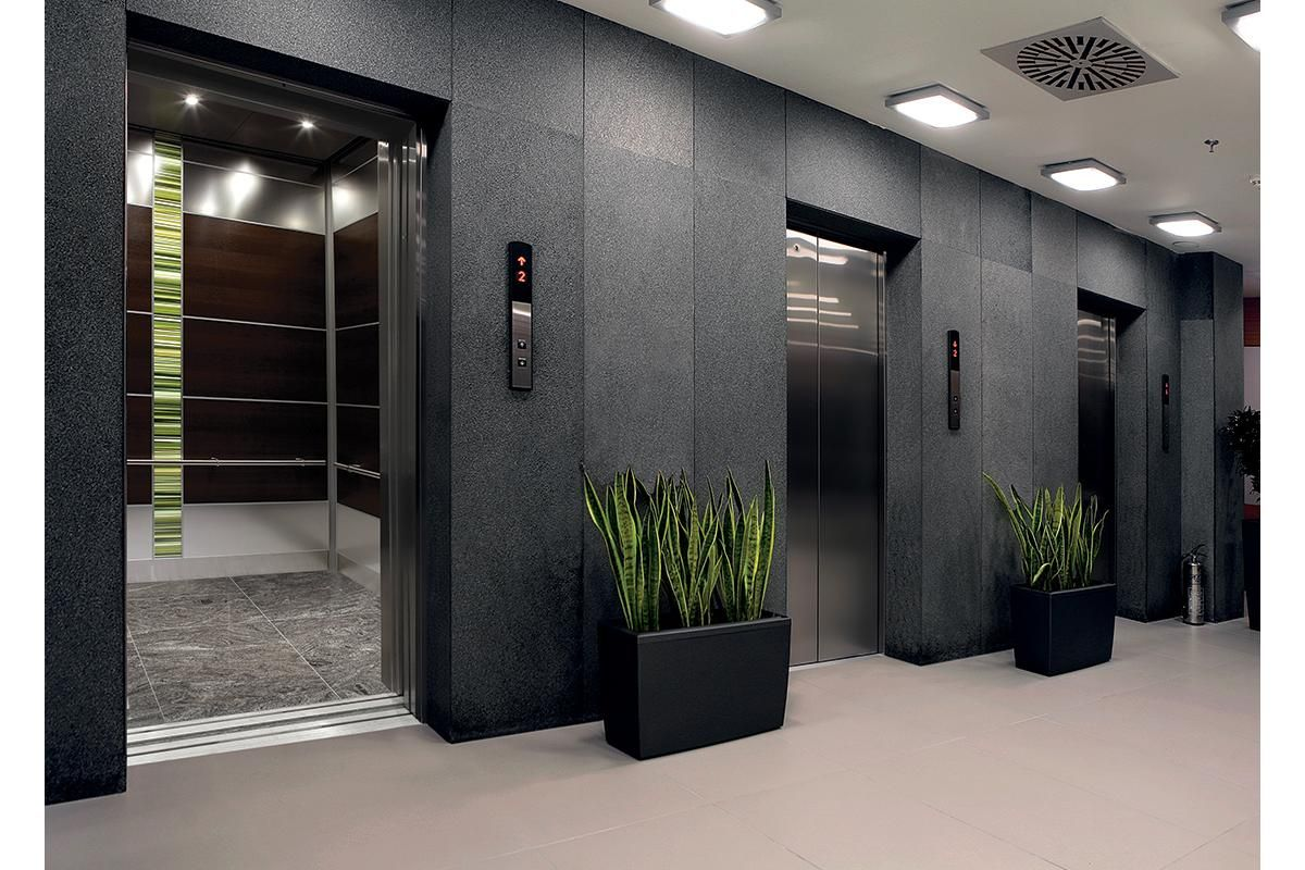 Elevator interior levele 107 elevator interior with main for Modern home elevators