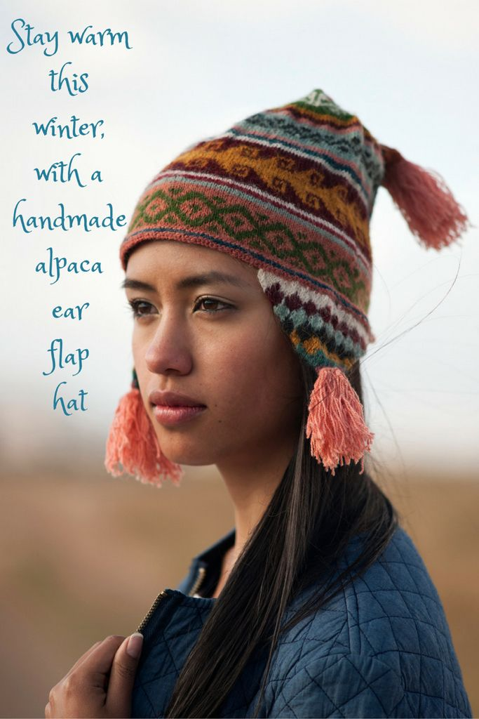 dcc7e226f89 Stay warm this winter with a handmade alpaca ear flap hat! Beat the cold in  style!  hat  alpaca  earflap