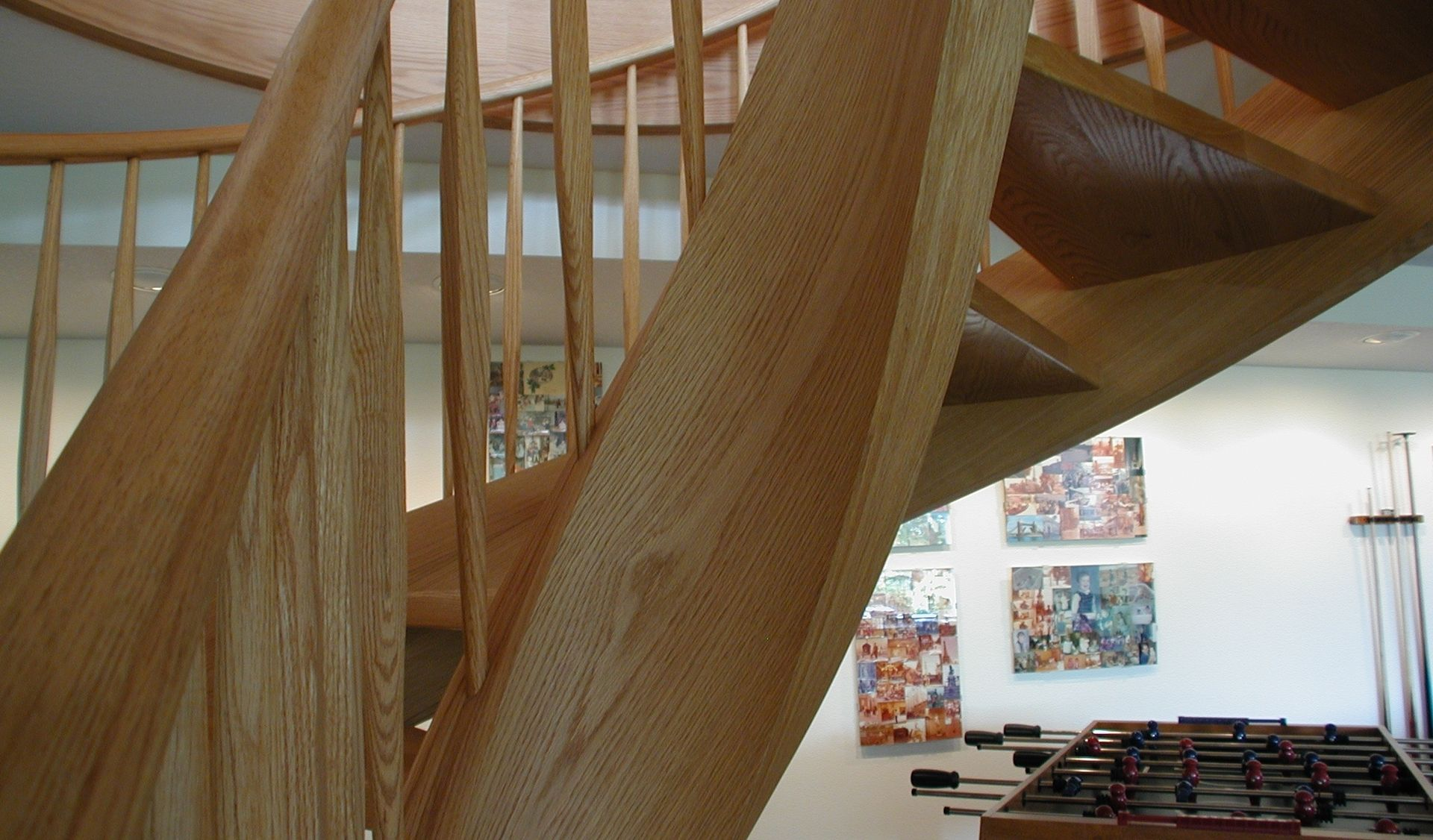 Best Graceful Red Oak Two Story Tight Spiral Stair Red Oak 400 x 300
