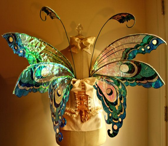 Quite possibly the most beautiful wings I've ever seen - Fairy Wings Wedding Halloween Costume Faerie by Whimsy Everlasting.