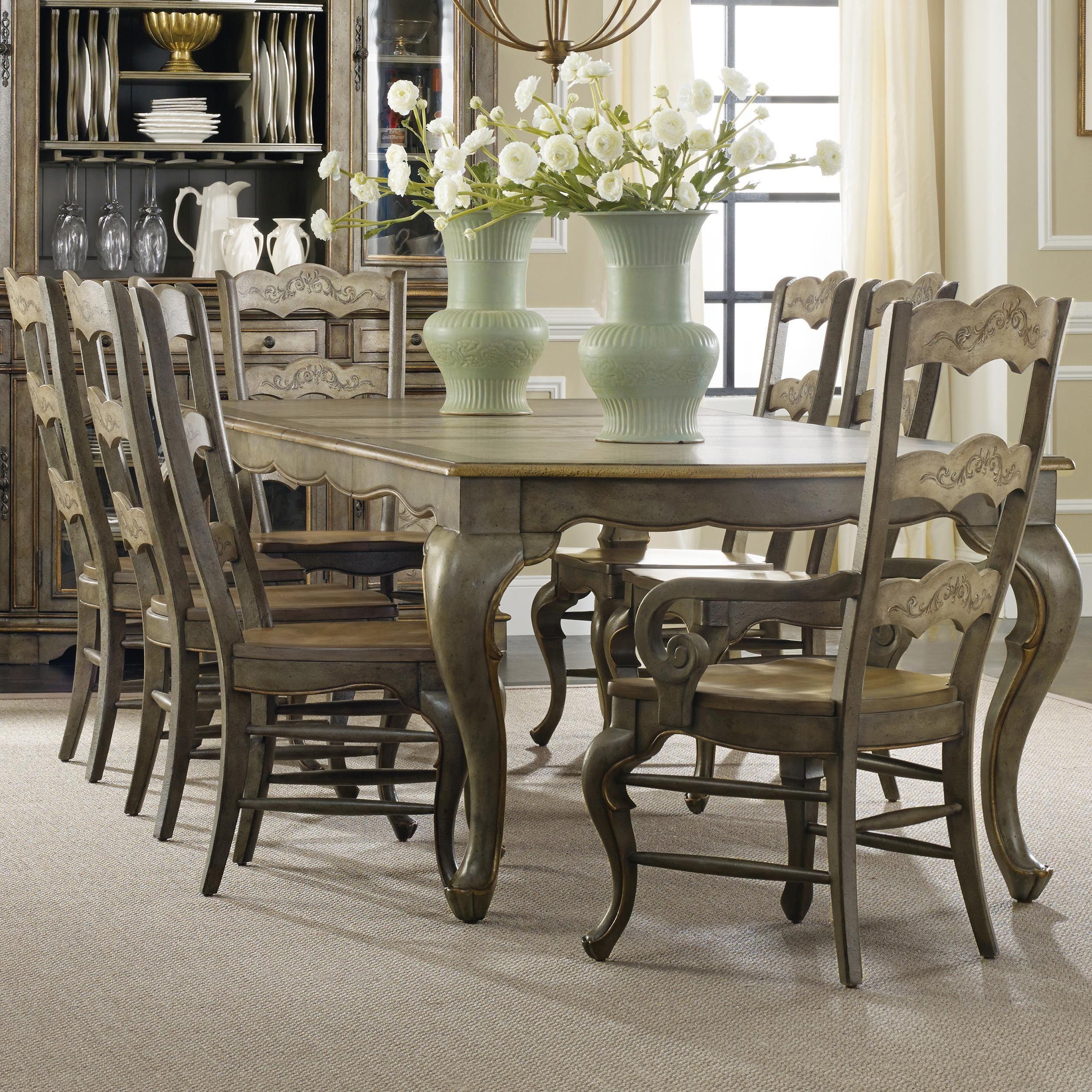 Hooker Furniture La Belle 9 Piece Dining Set With Rectangular Table