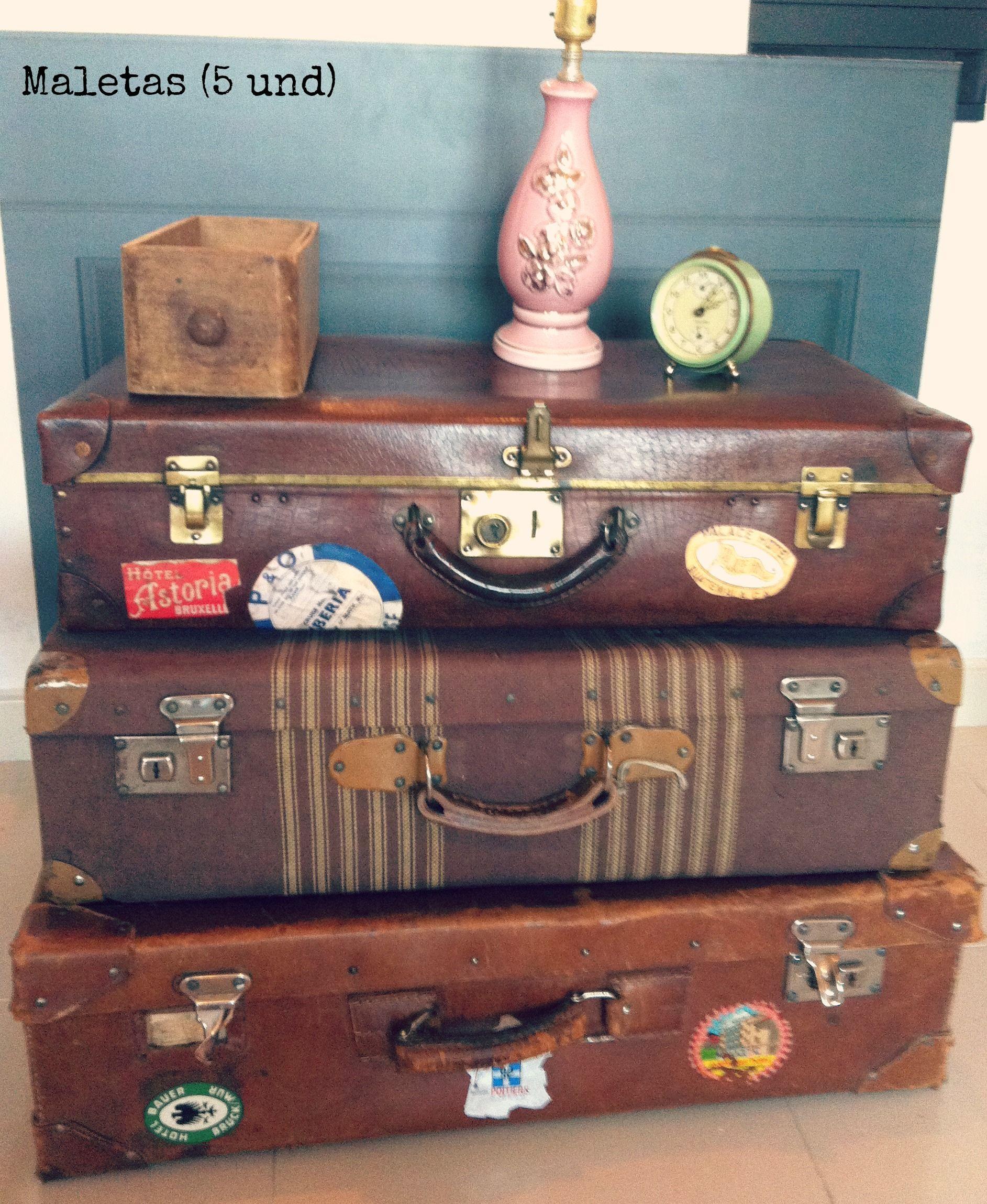 Maletas antiguas para decoraciones vintage pompom - Decoracion vintage reciclado ...
