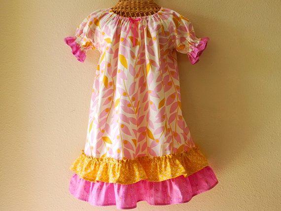 Girls size 6 dresses yellow