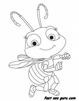 Print Out Baby Honey Bee Coloring Book Pages Printable Coloring Pages For Kids Insect Coloring Pages Bug Coloring Pages Bee Coloring Pages