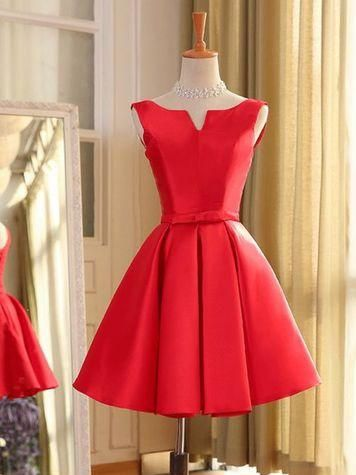 4fecc4bdd34 Sexy Cheap Homecoming Dress Bateau Satin Bowknot Short Prom Dress Party  Dress JK410