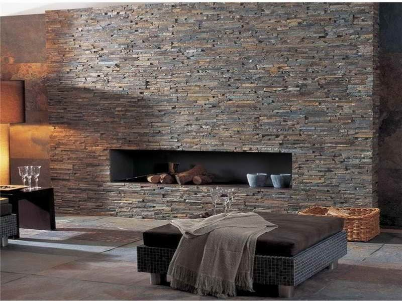 rock fireplace wall stacked stone home decor pinterest fireplace wall rock fireplaces. Black Bedroom Furniture Sets. Home Design Ideas