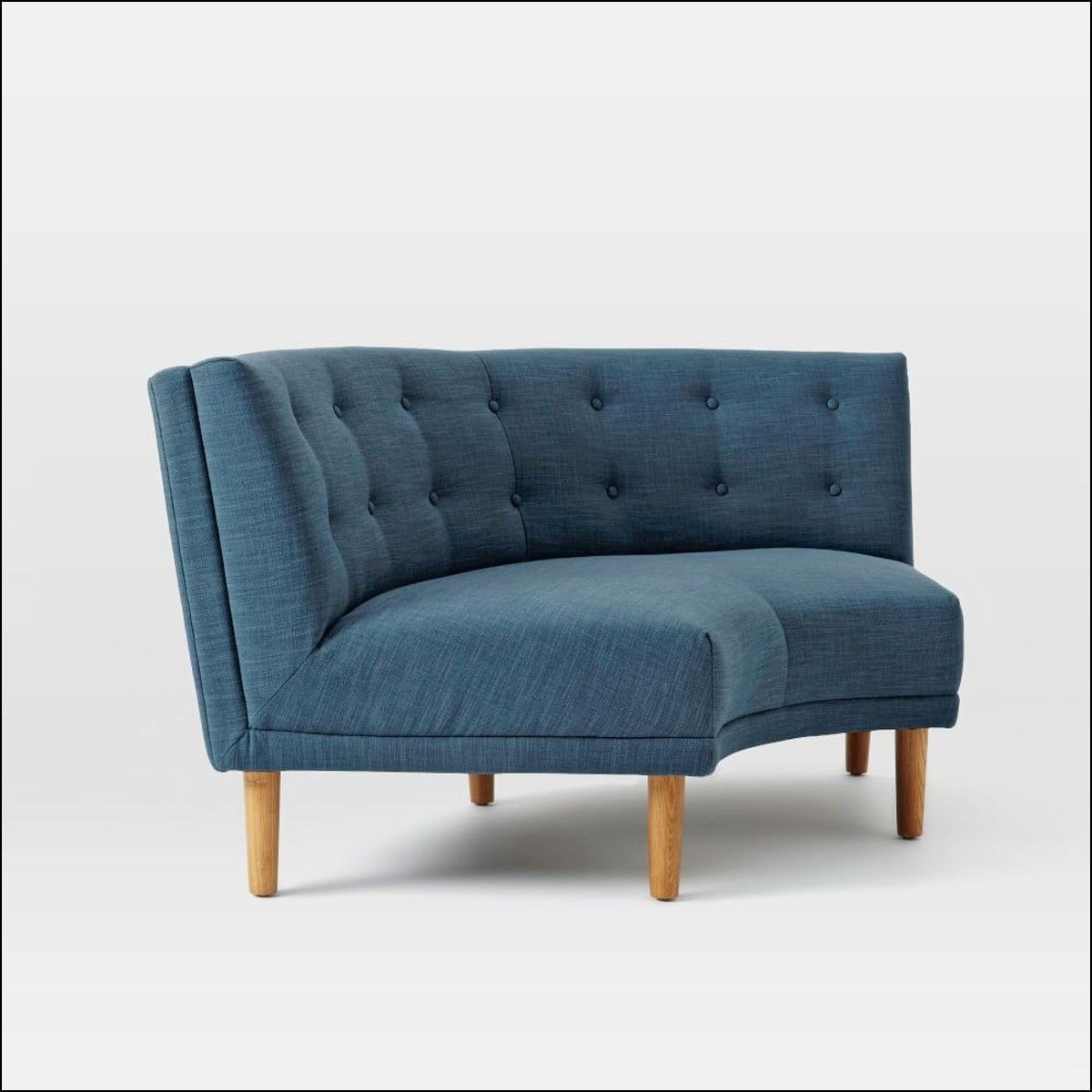 Comfortable Corner Sofa Ideas Perfect For Every Living: Small Curved Corner Sofa In 2019