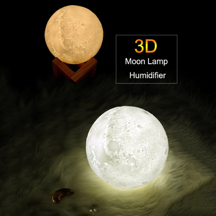 880ml Air Humidifier 3d Moon Lamp Diffuser Aroma Essential Oil Ultrasonic In 2020 Humidifier Air Humidifier Aroma Essential Oil