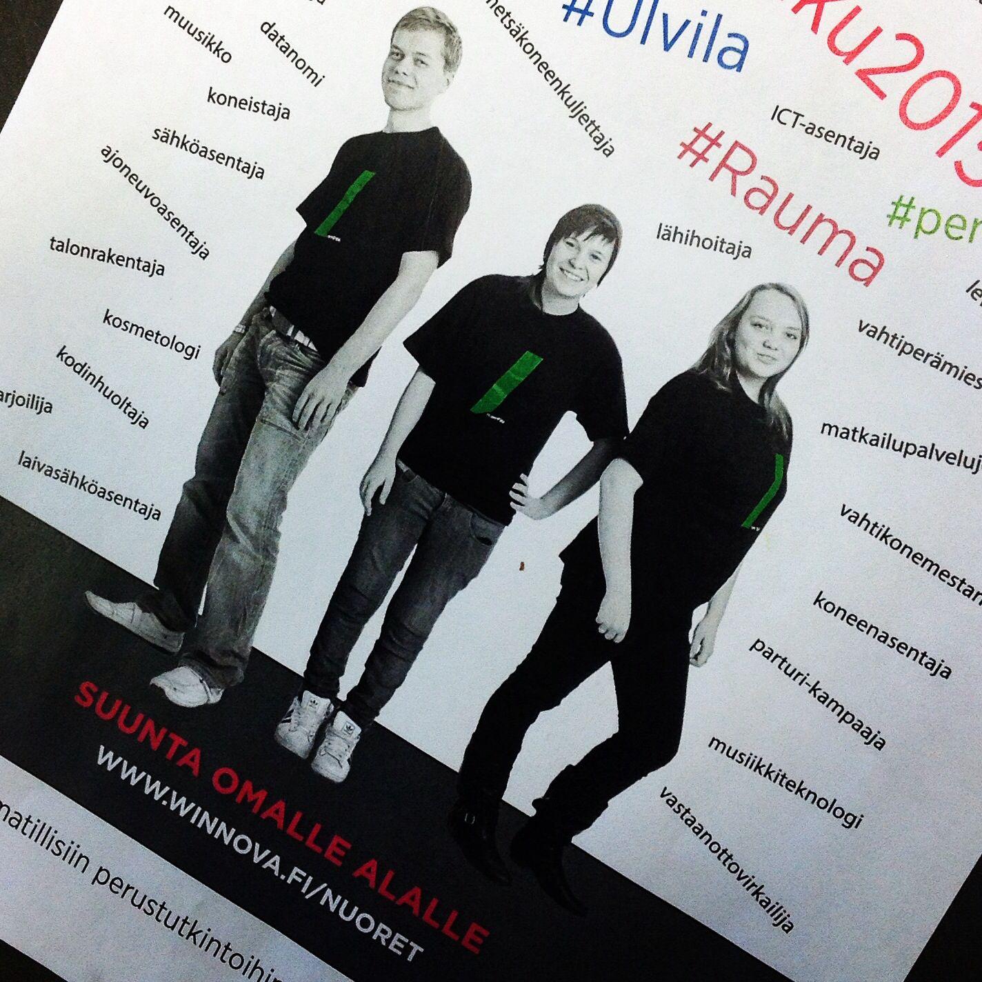 Suunta omalle alalle. Tutustu ammatillisiin perustutkintoihimme www.winnova.fi/yhteishakuesite2015. #WinNova #yhteishaku #yhteishaku2015 #Opintopolku #opiskelu #ammatti  #perustutkinto #Pori #Rauma #Ulvila